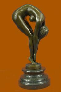 Bronze Nackte Frau Mädchen Modell Erotik Skulptur Restposten Kunst Statue Figur