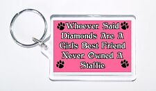 Whoever Said Diamonds Girls Best Friend Never Owned a Staffie Keyring, Gift