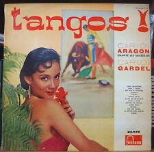 CARLOS ARAGON CHANTE CARLOS GARDEL CHEESECAKE COVER ORIG FRENCH LP FONTANA