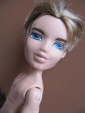 "Bratz 10"" Boyz Boy Doll Full Size BLONDE HAIR CAMERON, NUDE CALI BEACH BUM GUY"