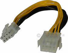 8 broches mâle vers femelle 12v ATX EPS Power Supply PSU Extension Cable Extender plomb