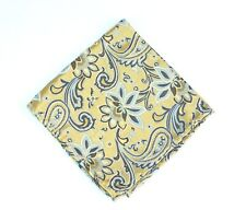 $75 New Lord R Colton Masterworks Pocket Square Pearl /& Blue Futurism Floral