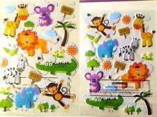 A5 Stickers Pack of 40 Stickers Zoo Animals Lion Monkey Zebra Giraffe Craft Time