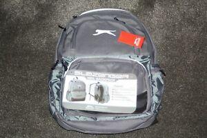 SLAZENGER NEIL BACKPACK BAG RUCKSACK BACK PACK  GREY/SILVER WHITE LOGO