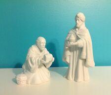 Avon 1982 Nativity Collectibles White Porcelain Magi King Melchior & Baltasar
