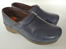Dansko XP Professional Clogs Dark Blue Leather Women's Shoes Size 37, US 6.5 - 7