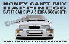 Ford Sierra RS Cosworth RS500 3 Door illustration Novelty Fridge Magnet #WHITE#