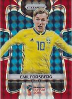 Emil Forsberg   2018 Panini Prizm World Cup Soccer Red Mosaic   Sweden  No.235
