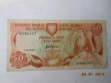 Cyprus 50 Cents P-49a gebr