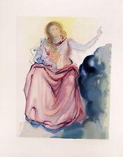 Salvador Dali 1960 DIVINE COMEDY PARADISE #4 Color Woodcut Wood Block Engraving