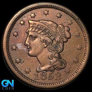 1853 Braided Hair Large Cent --  MAKE US AN OFFER!  #K8555