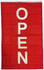 3x5 ft VERTICAL OPEN flag store concession business banner Flag rb
