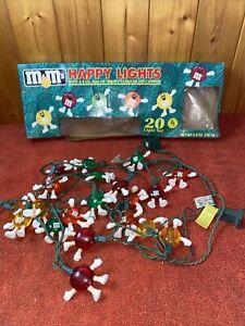 M&Ms Happy Lights 20-piece Light Set Christmas Display rare set usually 10 set