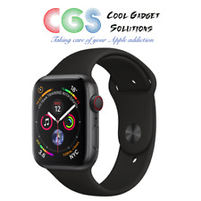 Apple Watch Series 4 44mm Space Grey Aluminum - Black Sport Band Cellular A2008