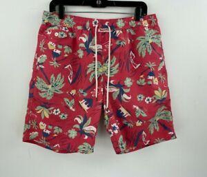Polo Ralph Lauren Large Swim Shorts Trunks Mens Floral Pink Hawaiian  B34-13