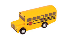 NEW PlanToys Wooden School Bus, PlanCity toy trucks vehicles