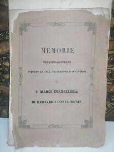 Leonardo Manin Souvenirs Historique Daumier Vie Treillis Noir S SAN Marco Merlo