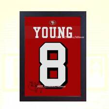 Steve Young San Francisco NFL signed t-shirt printed on Canvas 100% coton Framed