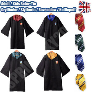 UK Harry Potter Costume Cape Cloak Halloween Gryffindor Cosplay Party COS Xmas.