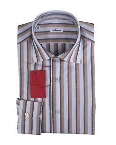 Kiton Napoli Cotton~Linen Modern Fit Dress Shirt 16 (EU 41) Handmade in Italy