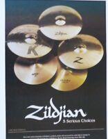 vintage magazine advert 1989 ZILDJIAN