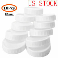 10x BPA FREE PLASTIC WIDE MOUTH MASON/BALL JAR LIDS (86mm)