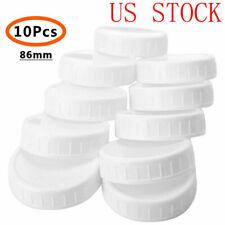 10x BPA FREE PLASTIC WIDE MOUTH MASON/BALL JAR LIDS (86mm)