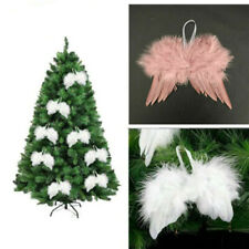1/5/10pcs Vintage Feather Hanging Angel Wings Christmas Tree Wedding Party Decor