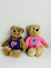Hallmark Kiss Kiss Bears Plush Stuffed Animals Magnetic Noses Love Heart