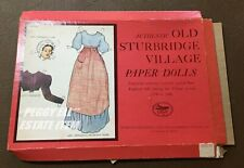 Old Sturbridge Village Paper Dolls Uncut By Charles H. Overly Attire 1790-1840