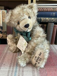 Max Hermann Classic Birthday Teddy Bear - Limited Edition-Label - Mohair-Vintage