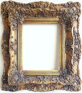 Bilderrahmen  Goldstuckrahmen  Außenmaß ca. 41x46 cm