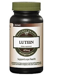GNC Lutein 40mg Supports Eye Health (30 Softgels) Exp 09/2021