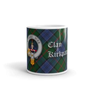 Kirkpatrick Clan Crest Coffee / Tea Mug - Scottish Cup 10oz / 295ml