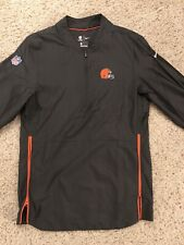 Cleveland Browns Nike On Field Apparel Mens Jacket Black Quarter Zip Small