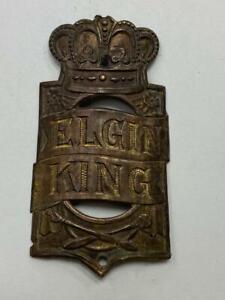 antique Sears ELGIN  KING bicycle HEAD BADGE tag