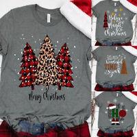 ❤️ Women's Christmas Print Short Sleeve T-Shirt Ladies Casual Loose Blouse Tops