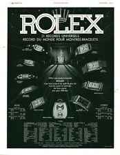Publicité ancienne montres Rolex 1937 issue de magazine