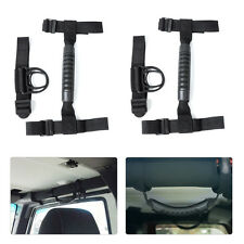82211740 Roll Bar Grab Handle & Cloth Hook Kit Pair For 1987-2016 Jeep Wrangler
