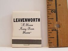 VINTAGE LEAVENWORTH PRISON A HOME AWAY FROM HOME ADVERTISING MATCHBOOK