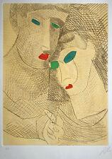 Sandro CHIA Incresparsi di foglie 1991 acquaforte acquatinta originale firmata
