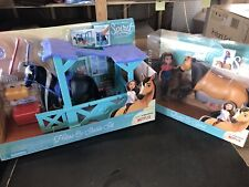 LOT of 2 Spirit Toy Playsets Horse & Stable Set Lucky NEW