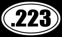 .223 Vinyl Decal Sticker Car Window Wall Bumper Gun Ammo AR-15