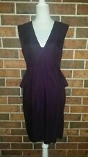 CUE Maroon Peplum Dress Size 12