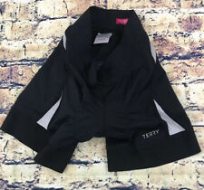 Terry Womens Cycling Shorts Nylon Spandex Compression Black Pink XS A+ Condition