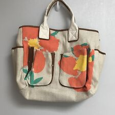 Miss Albright Anthropologie Floral Tote Bag Weekender Flowers Summer Beach Pool