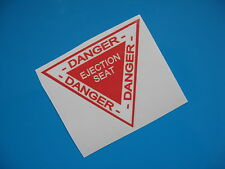 DANGER EJECTION SEAT sticker/decal x2