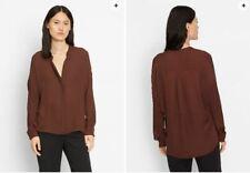 Vince. Double front blouse silk popover top V neck US 6 UK 10 VGC
