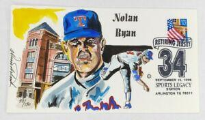 Nolan Ryan Retiring Jersey Wild Horse Cachets HP Event Cover 9/15/96 #52/130