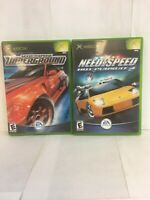 Xbox Need For Speed UnderGround And Need For Speed Hot Pursuit 2